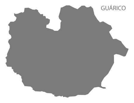 mapa de venezuela: Guárico Venezuela Mapa en gris