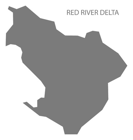 delta: Red River Delta Vietnam Map in grey