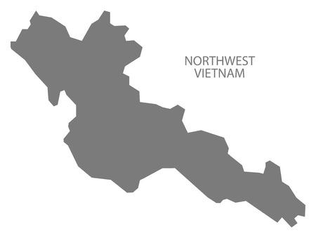 northwest: Northwest Vietnam Map in grey