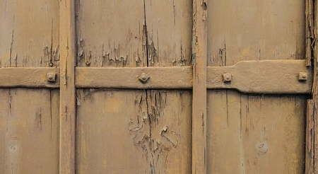 damaged: Brown damaged door background Stock Photo