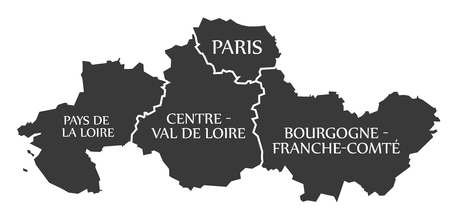 Bourgogne Map Stock Photos Royalty Free Bourgogne Map Images