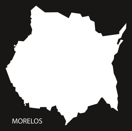 morelos: Morelos Mexico Map black inverted silhouette