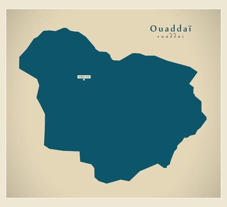 Modern Map - Ouaddai TD Vetores