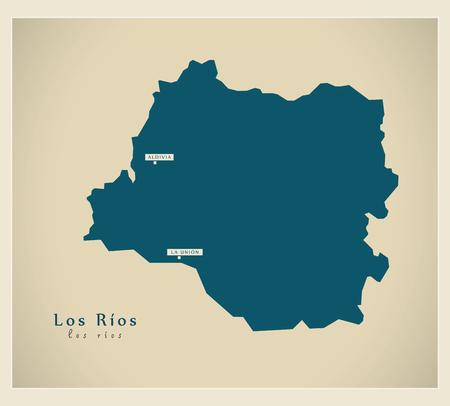 Modern Map - Los Rios CL