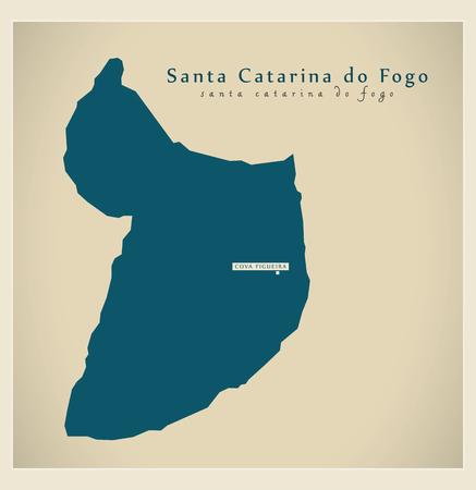 praia: Modern Map - Santa Catarina do Fogo CV