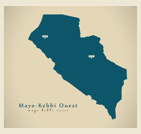 Modern Map - Mayo-Kebbi Ouest TD