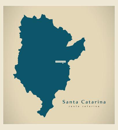 praia: Modern Map - Santa Catarina CV
