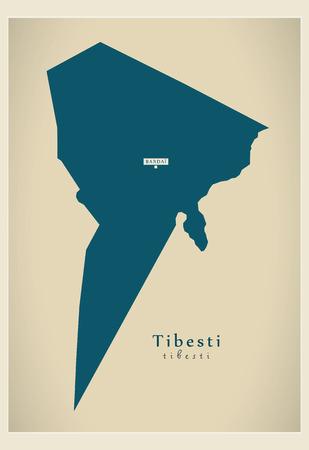 Modern Map - Tibesti TD Vetores