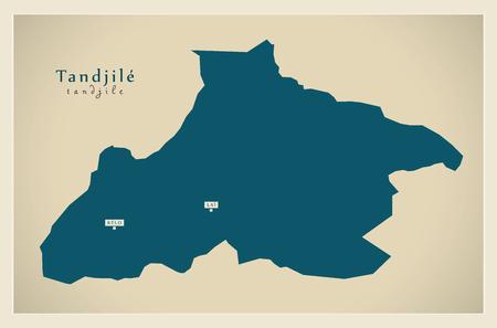 Modern Map - Tandjile TD Vetores