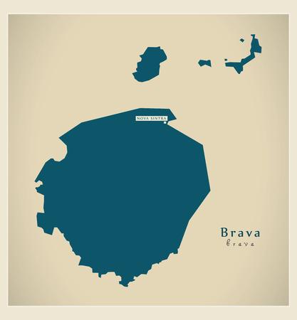 praia: Modern Map - Brava CV