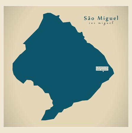 praia: Modern Map - Sao Miguel CV