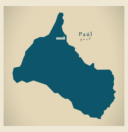praia: Modern Map - Paul CV