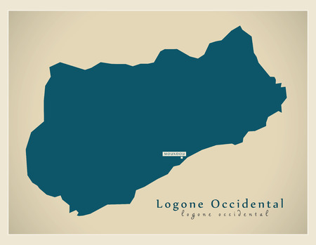 Modern Map - Logone-Occidental TD