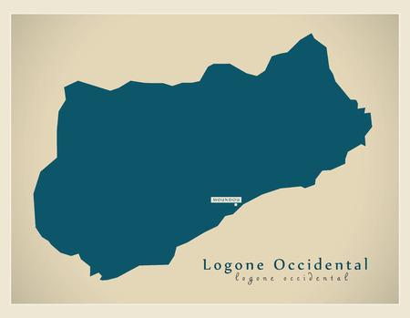 현대지도 - Logone-Occidental TD 스톡 콘텐츠 - 73293127