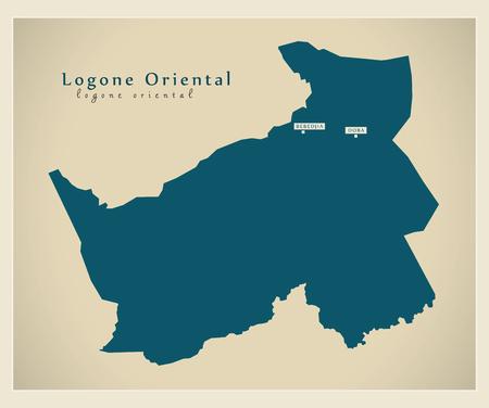Modern Map - Logone-Oriental TD Logo