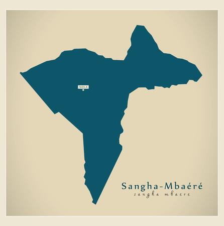 Modern Map - Sangha-Mbaere CF