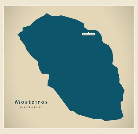 praia: Modern Map - Mosteiros CV