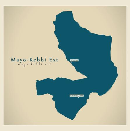 td: Modern Map - Mayo-Kebbi Est TD