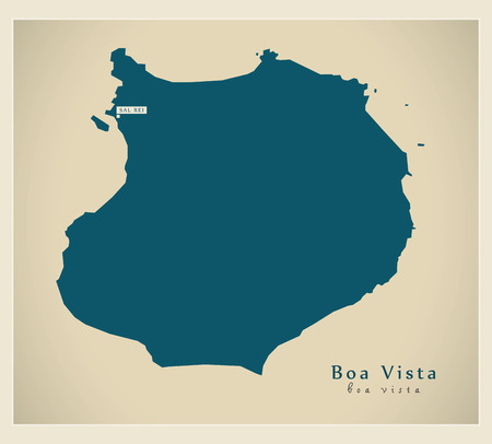 praia: Modern Map - Boa Vista CV