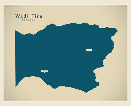 Modern Map - Wadi Fira TD