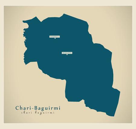 Modern Map - Chari-Baguirmi TD