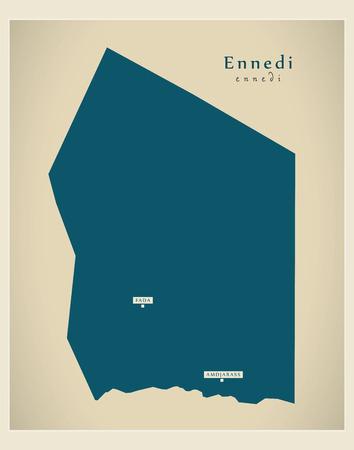 Modern Map - Ennedi TD Vetores