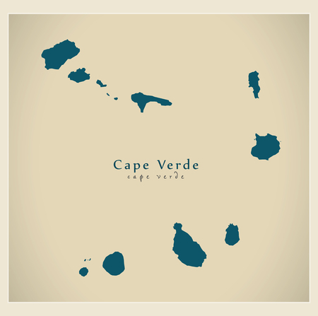 praia: Modern Map - Cape Verde CV