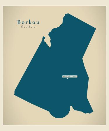 td: Modern Map - Borkou TD Illustration