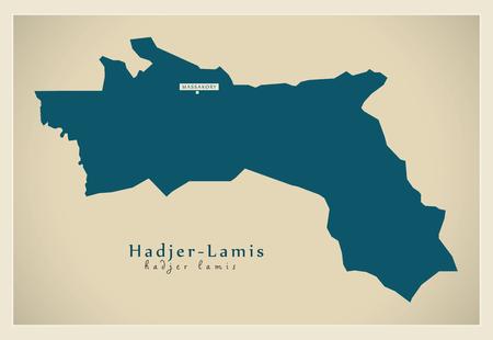 Modern Map - Hadjer-Lamis TD Vetores
