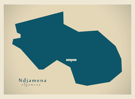 td: Modern Map - Ndjamena TD Illustration