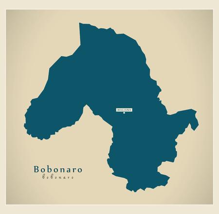 Modern Map - Bobonaro TL illustration silhouette