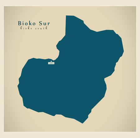 sur: Modern Map - Bioko Sur GQ