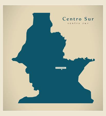 sur: Modern Map - Centro Sur GQ