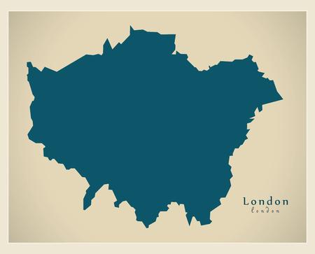 Modern Map - London UK refreshed design