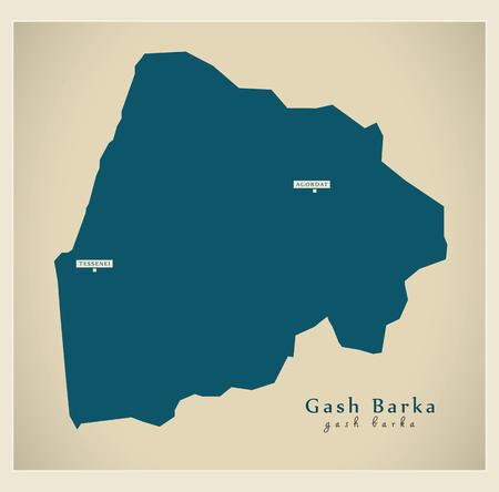 Modern Map - Gash Barka ER Illustration