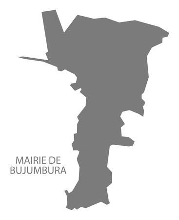 Mairie de Bujumbura Burundi province map grey illustration silhouette Illustration