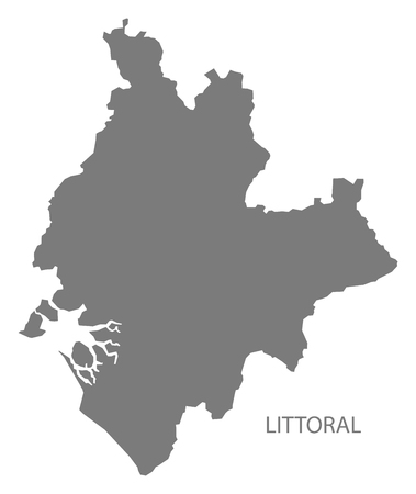 Littoral Cameroon province map grey illustration silhouette