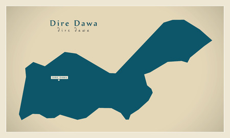 dire: Modern Map - Dire Dawa ET Illustration