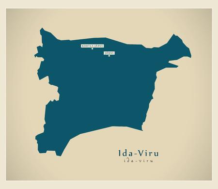 Modern Map - Ida Viru EE
