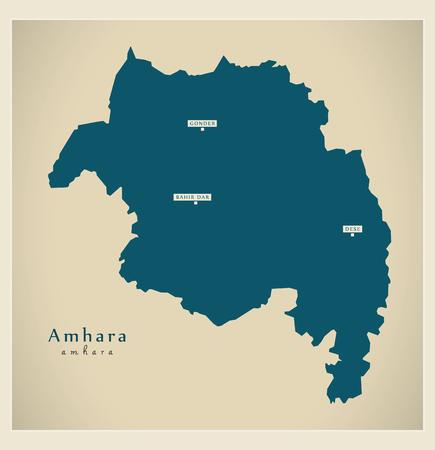 Modern Map - Amhara ET