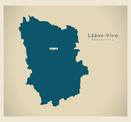 Modern Map - Laane Viru EE