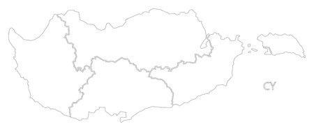 Northern Cyprus Outline Silhouette Map Illustration With Black - Cyprus blank map