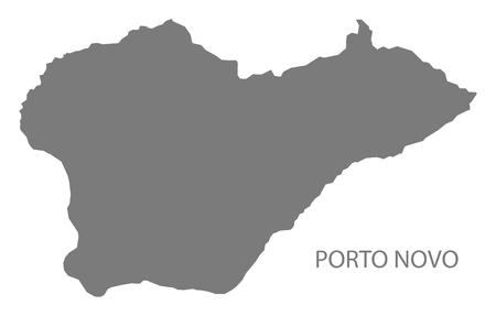 Porto Novo Cape Verde municipality map grey illustration silhouette
