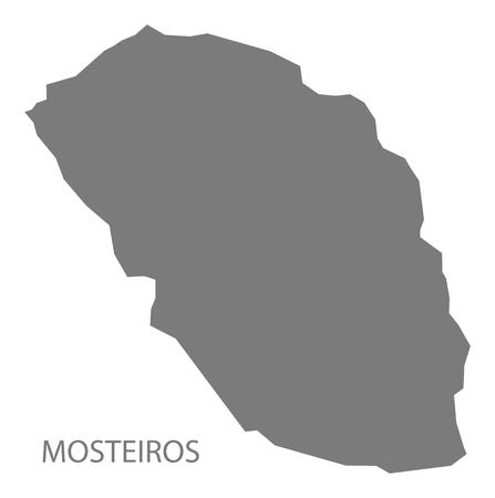 verde: Mosteiros Cape Verde municipality map grey illustration silhouette
