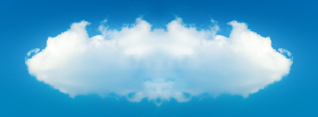 floating: Megacloud - artwork illustration of a big white cloud