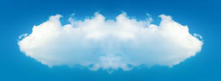 Megacloud - artwork illustration of a big white cloud