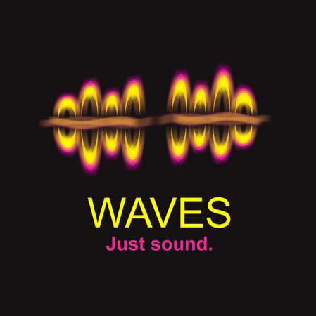 Sound wave logo illustration hand drawn Zdjęcie Seryjne