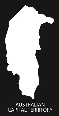 provinces: Australian Capital Territory map black inverted silhouette illustration Illustration