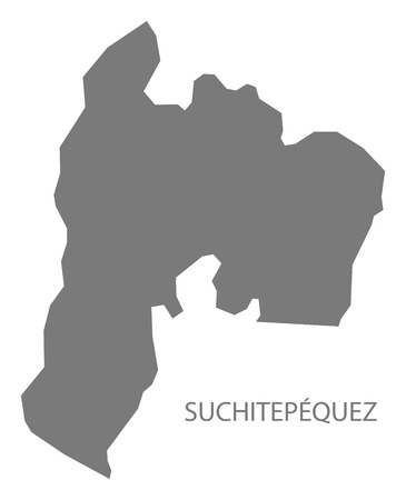 Suchitepequez Guatemala map grey illustration silhouette Vettoriali