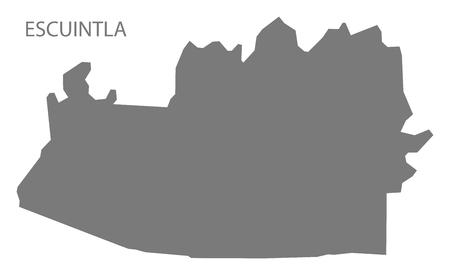 Escuintla Guatemala map grey illustration silhouette Illustration